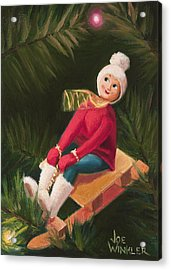 Acrylic Print featuring the painting Jolly Old Elf by Joe Winkler