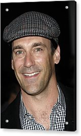 Jon Hamm At Arrivals For Get Him To The Acrylic Print by Everett