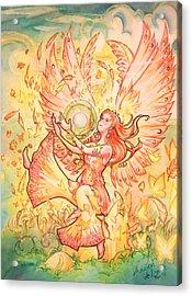 Jophiel Acrylic Print by Arwen De Lyon