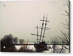 Jordan, Ontario, Canada A Tall Ship Acrylic Print by Pete Stec
