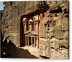 Jordan, Petra, The Treasury (al Khazna) Acrylic Print by Jon Arnold