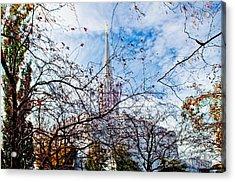 Jordan River Temple Branches Acrylic Print by La Rae  Roberts