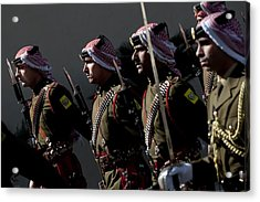 Jordanian Honor Guardsmen Welcome Acrylic Print by Everett