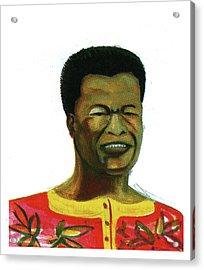 Jose Belo Chipenda Acrylic Print by Emmanuel Baliyanga