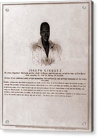 Joseph Cinquez, Lead Fifty-four African Acrylic Print by Everett