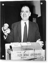 Joseph Mccarthy 1908-1957, Laughing Acrylic Print by Everett