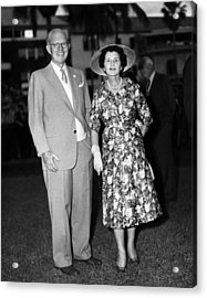 Joseph P. Kennedy And Wife Rose Acrylic Print by Everett