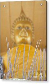Joss Sticks Acrylic Print by Roberto Morgenthaler