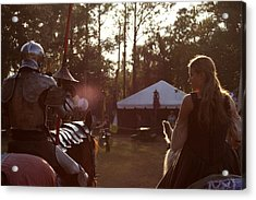 Joust One Knight Acrylic Print by Sean Green