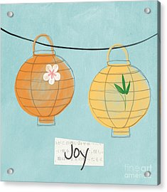 Joy Lanterns Acrylic Print