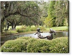 Joy Of Motherhood Willard Hirsch Brookgreen Gardens  South Carolina Acrylic Print by Jonathan Whichard