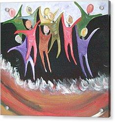 Joy Unspeakable Acrylic Print by Freda Lade-Ajumobi