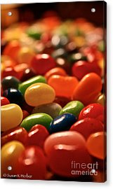 Jubilant Jelly Beans Acrylic Print by Susan Herber