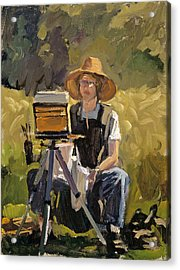 Judith At Work Acrylic Print by Mark Lunde