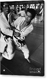 Judo Acrylic Print by Bernard Wolff