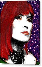 Acrylic Print featuring the painting Judy Rose by Jann Paxton