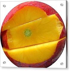 Juicy Red Mango Acrylic Print