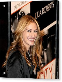 Julia Roberts At Arrivals For Duplicity Acrylic Print by Everett