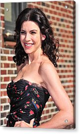 Julianna Margulies At Talk Show Acrylic Print by Everett