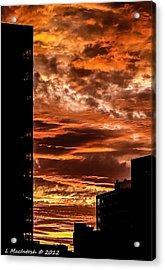 July 4th Sunset Acrylic Print by Lauren MacIntosh