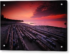 July Fourth Eighteen Eighty Three Shipwreck Acrylic Print by Mike Thompson