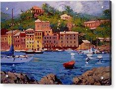 July In Portofino Acrylic Print by R W Goetting