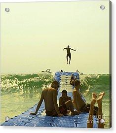 Jump Acrylic Print by Paul Grand