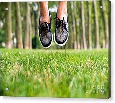 Jump Start  Acrylic Print by AHcreatrix