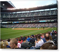 June Seattle Game With Red Sox Acrylic Print by Erin Stepanek