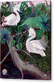 Jungle Dance Acrylic Print by Lyn Cook