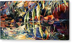 Jungle Reflections Acrylic Print by Rae Andrews