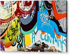 Junk Graffiti Acrylic Print by Yurix Sardinelly