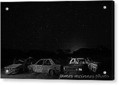 Junk Yard Acrylic Print by James Mcinnes
