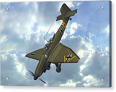 Junkers Ju87 Stuka Acrylic Print by Walter Colvin