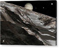 Jupiter From Ganymede, Artwork Acrylic Print by Detlev Van Ravenswaay