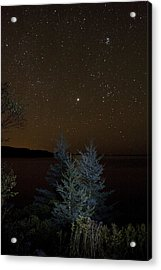 Acrylic Print featuring the photograph Jupiter  Over Otter Point 2 by Brent L Ander