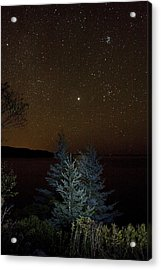 Acrylic Print featuring the photograph Jupiter  Over Otter Point 3 by Brent L Ander