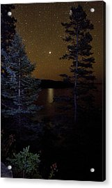 Acrylic Print featuring the photograph Jupiter Rising Over Otter Point by Brent L Ander