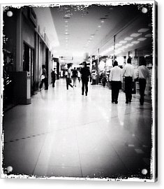 #jusco #shoppingmall #people #walking Acrylic Print