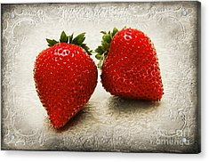 Just 2 Classic Berries Acrylic Print by Andee Design