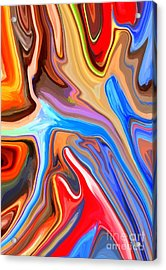 Just Abstract IIi Acrylic Print by Chris Butler