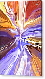 Just Abstract V Acrylic Print by Chris Butler