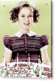 Just Around The Corner, Shirley Temple Acrylic Print by Everett