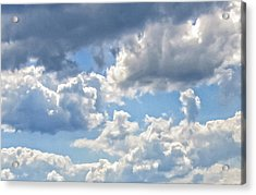 Just Clouds Acrylic Print by Laura Corebello