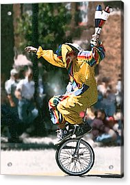 Just Clownin' Acrylic Print by Rick Riley