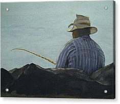 Just Fishing Acrylic Print by Sarah Buell  Dowling