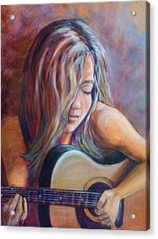 Just Strumming Acrylic Print