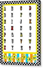 Juvenile Alphabet Licensing Art Acrylic Print by Anahi DeCanio