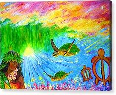 kahuna-Honu Acrylic Print by Tamara Tavernier