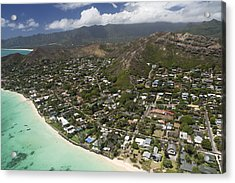 Kailua Aerial Acrylic Print by Peter French